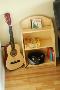 Three Oaks Blog's fabulous listening nook in her home! Check out the entry about how they utilize their nook.