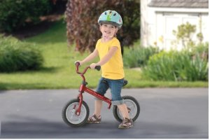 This is a similar version to the balance bike we used. You can get it on amazon.